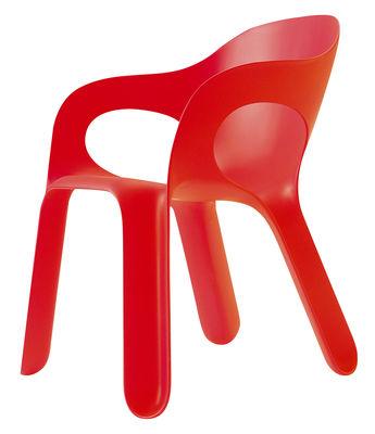 Foto Poltrona impilabile Easy chair di Magis - Rosso - Materiale plastico