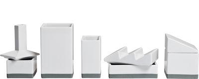 Interni - Ufficio - Set L'usine - /Portaoggetti per scrivania - L 33 cm di Seletti - Bianco - Porcellana