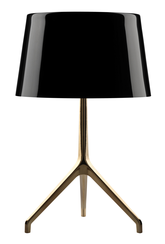 Lampe de table Lumière XXL / H 57 cm Noir / pied or - Foscarini