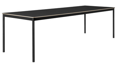 Table Base /Plateau bois - 250 x 90 cm - Muuto noir en bois