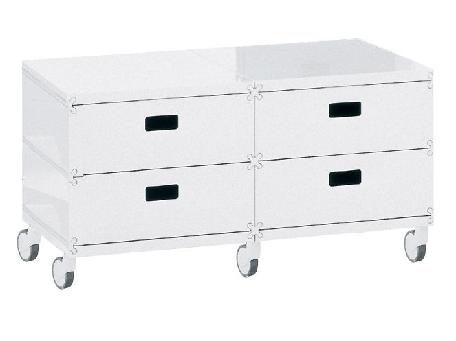 plus unit 4 schubladen auf rollen magis aufbewahrungsm bel. Black Bedroom Furniture Sets. Home Design Ideas