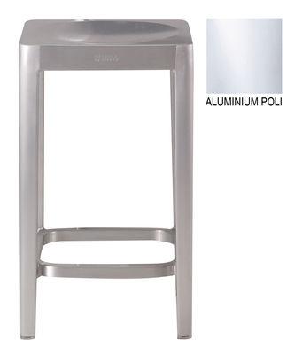 Foto Sgabello bar / Aluminium poli - h 61 cm di Emeco - Alluminio lucido - Metallo