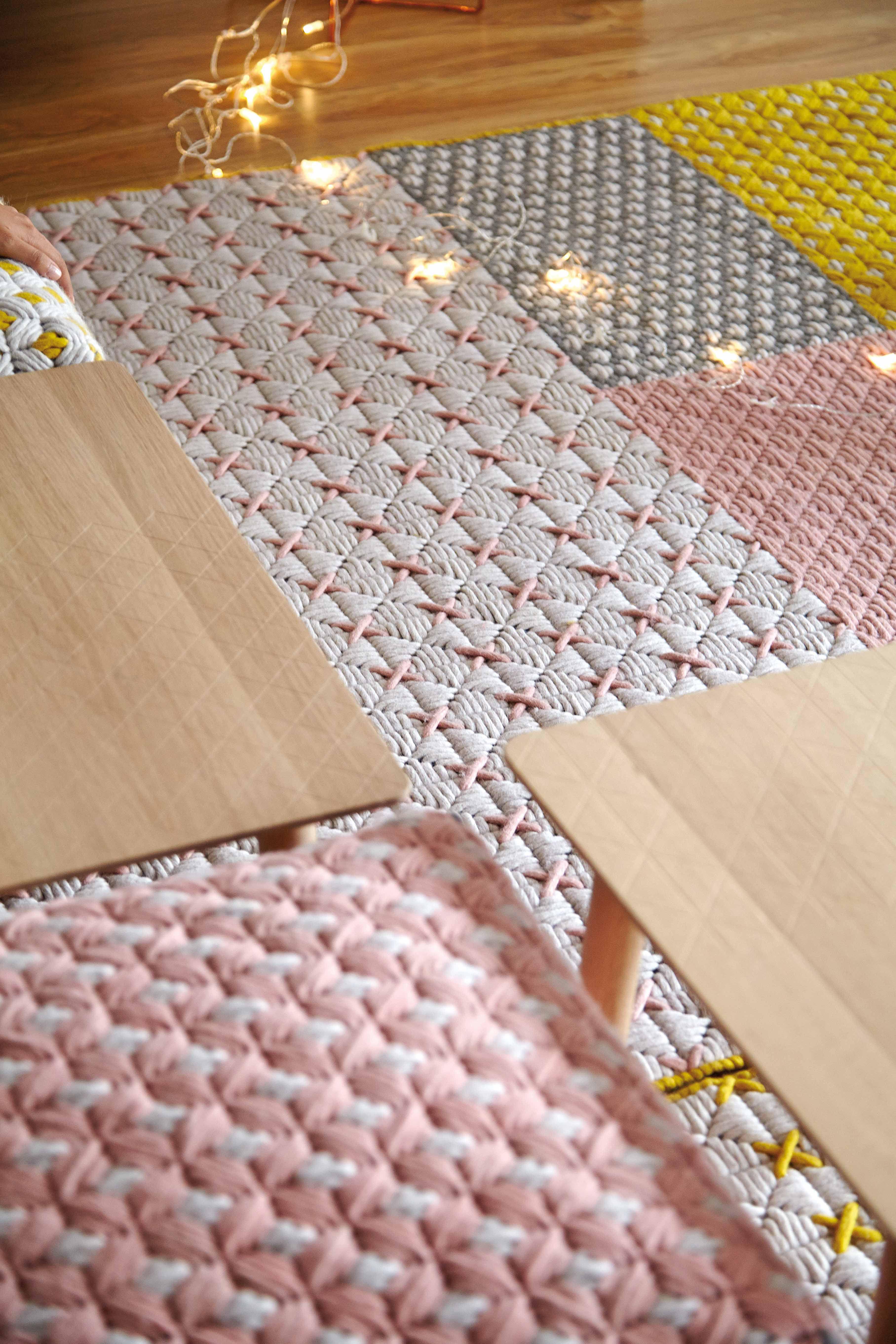 Tapis sila 171 x 258 cm rose gan made in design - Made in design tapis ...