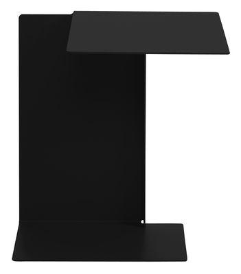 Table d´appoint Diana B / Plateau à droite - ClassiCon noir en métal