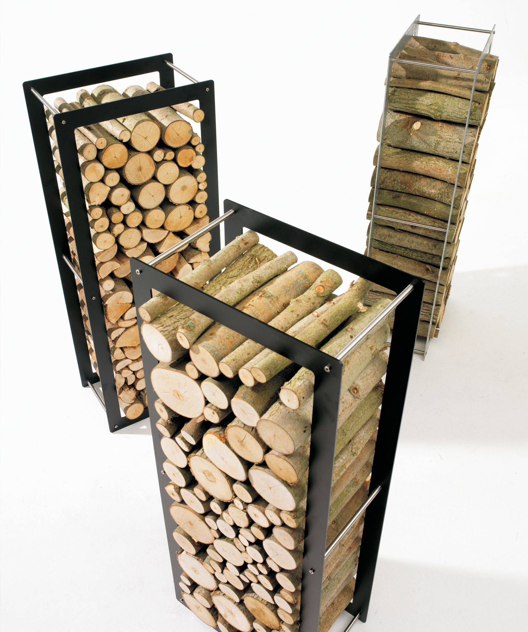 porte buches woodstock acier interieur exterieur