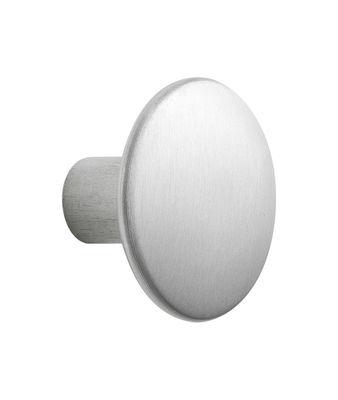 Möbel - Garderoben und Kleiderhaken - The Dots Metal Wandhaken / Größe M - Ø 3,9 cm - Muuto - Aluminium - Aluminium