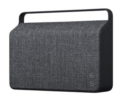 Enceinte Bluetooth Copenhague / Sans fil - Tissu & poignée alu - Vifa gris anthracite en tissu