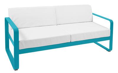 Canapé droit Bellevie 2 places L 160 cm Tissu blanc Fermob blanc,bleu turquoise en métal