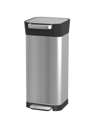 Poubelle à pédale Titan Slim Compacteur 20 à 60 Litres Joseph Joseph orange,noir,acier en métal