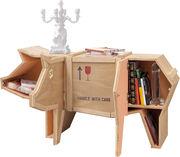 Buffet Sending animals Cochon - /Mobile-libreria - L 150 cm x H 76 cm di Seletti - Legno naturale - Legno