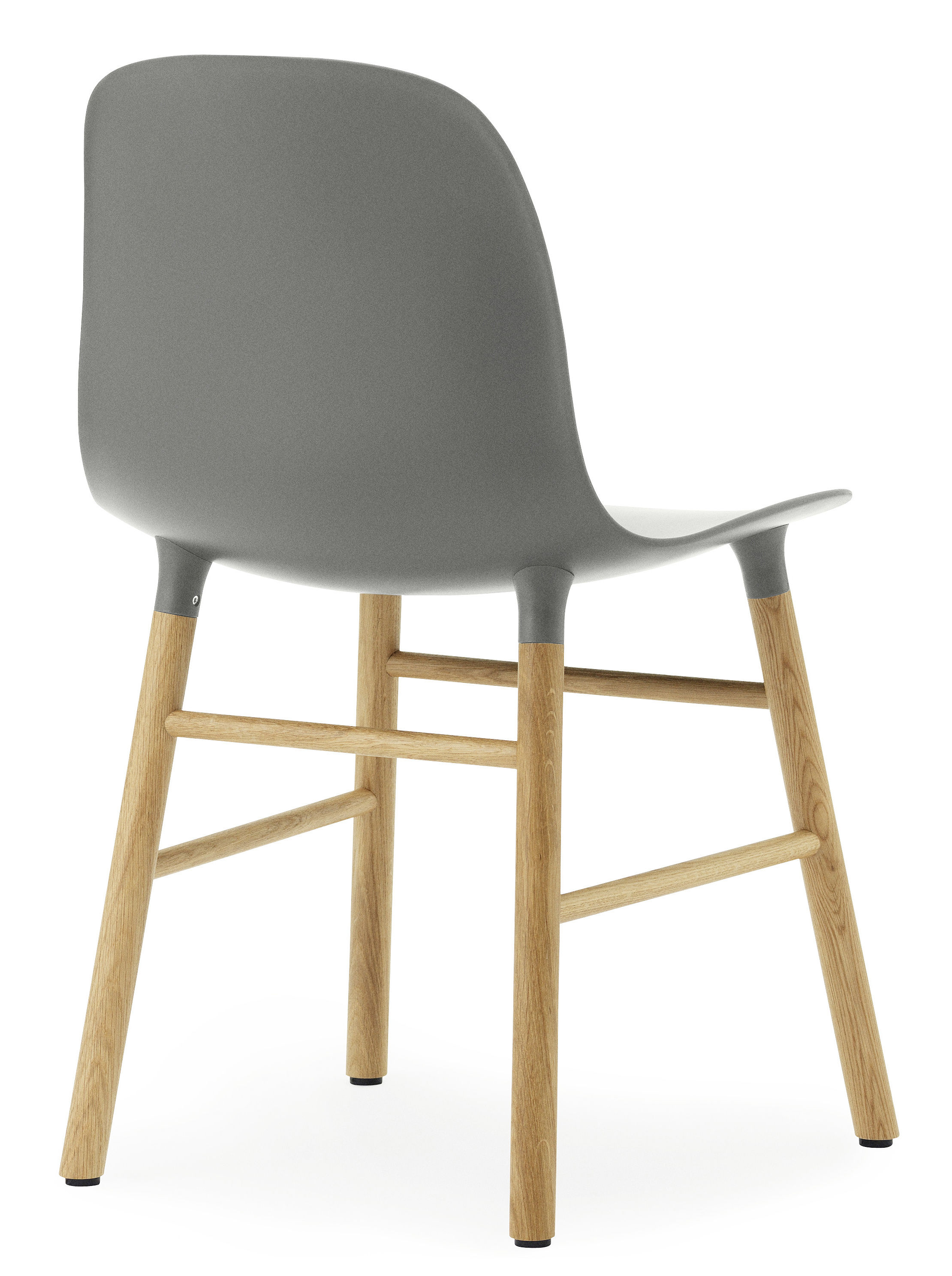 Chaise form pied ch ne gris ch ne normann copenhagen for Chaise 1 pied