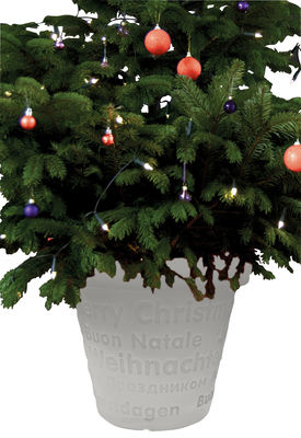 Pot de fleurs lumineux Bloom X-Mas / H 50 cm - Bloom! blanc en matière plastique