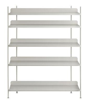 Möbel - Regale und Bücherregale - Compile Regal / Metall - L 120 cm x H 136,6 cm - Muuto - Grau - lackierter Stahl