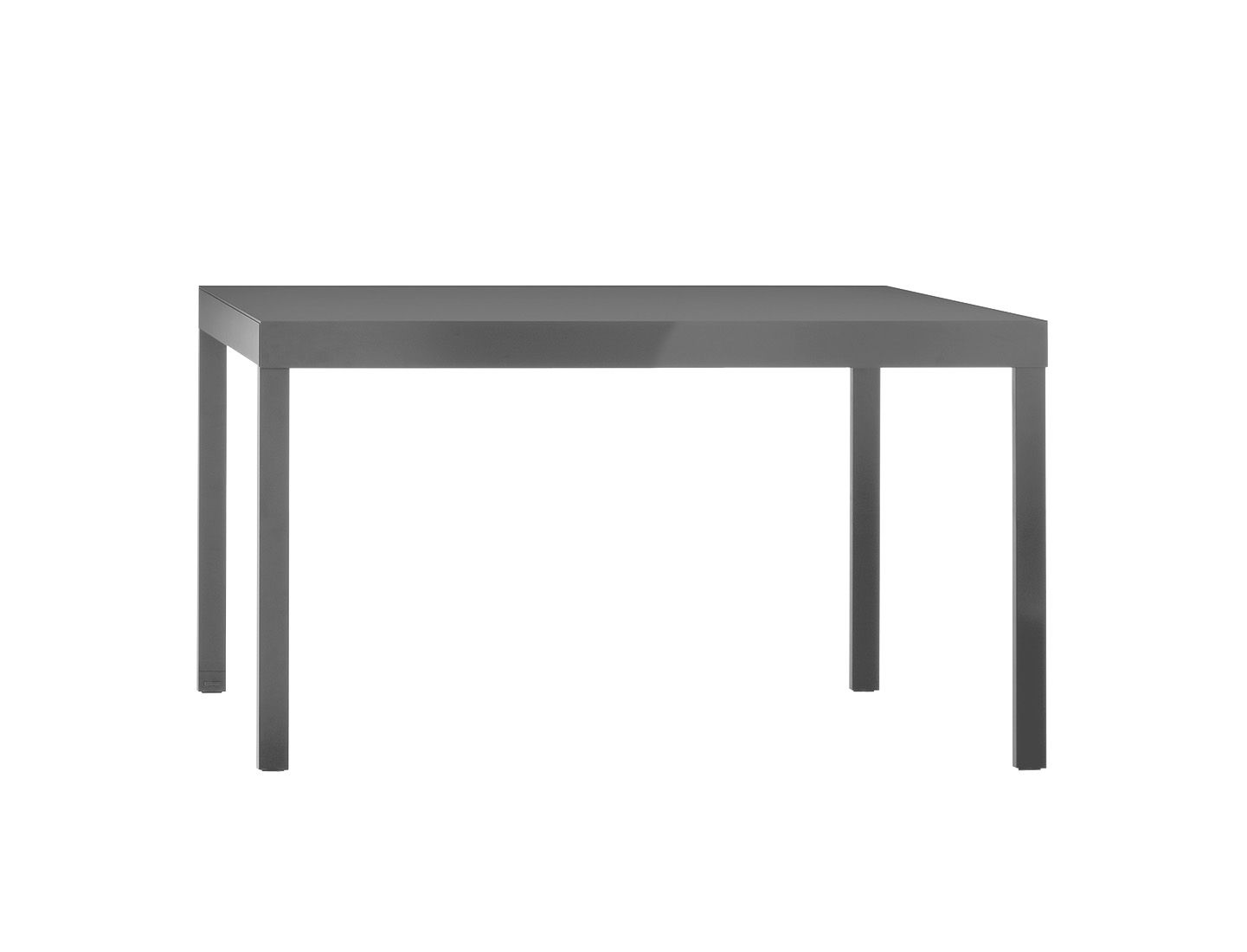 Table grand cart fixe 180 x 85 cm gris pallucco for Table 180 x 85