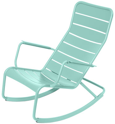 Foto Rocking chair Luxembourg di Fermob - Blu laguna - Metallo