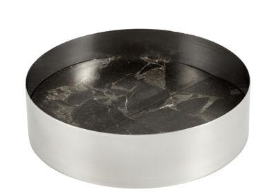 Coupe Pli Medium / Ø 13 cm - Marbre & aluminium - La Chance noir,chromé en métal