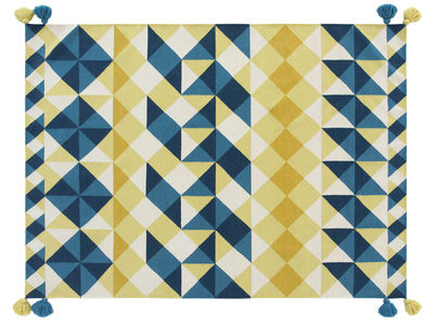 tapis kilim mosa ek 240 x 170 cm jaune bleu gan. Black Bedroom Furniture Sets. Home Design Ideas