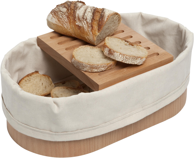 corbeille pain avec panche d couper 36 x 20 cm bois naturel blanc coton l 39 atelier du. Black Bedroom Furniture Sets. Home Design Ideas