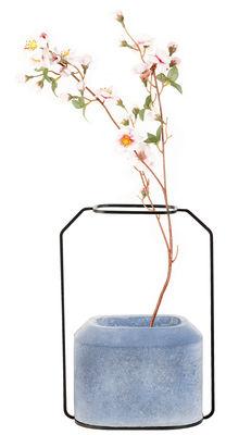 Foto Vaso Weight B - / L 20 x H 28 cm di Spécimen Editions - Blu - Metallo