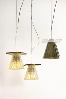 Suspension Light-Air / Abat-jour plastique sculpté Plastique cristal ...