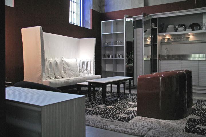 canap droit neoz avec assise profonde l 206 cm eb ne driade. Black Bedroom Furniture Sets. Home Design Ideas