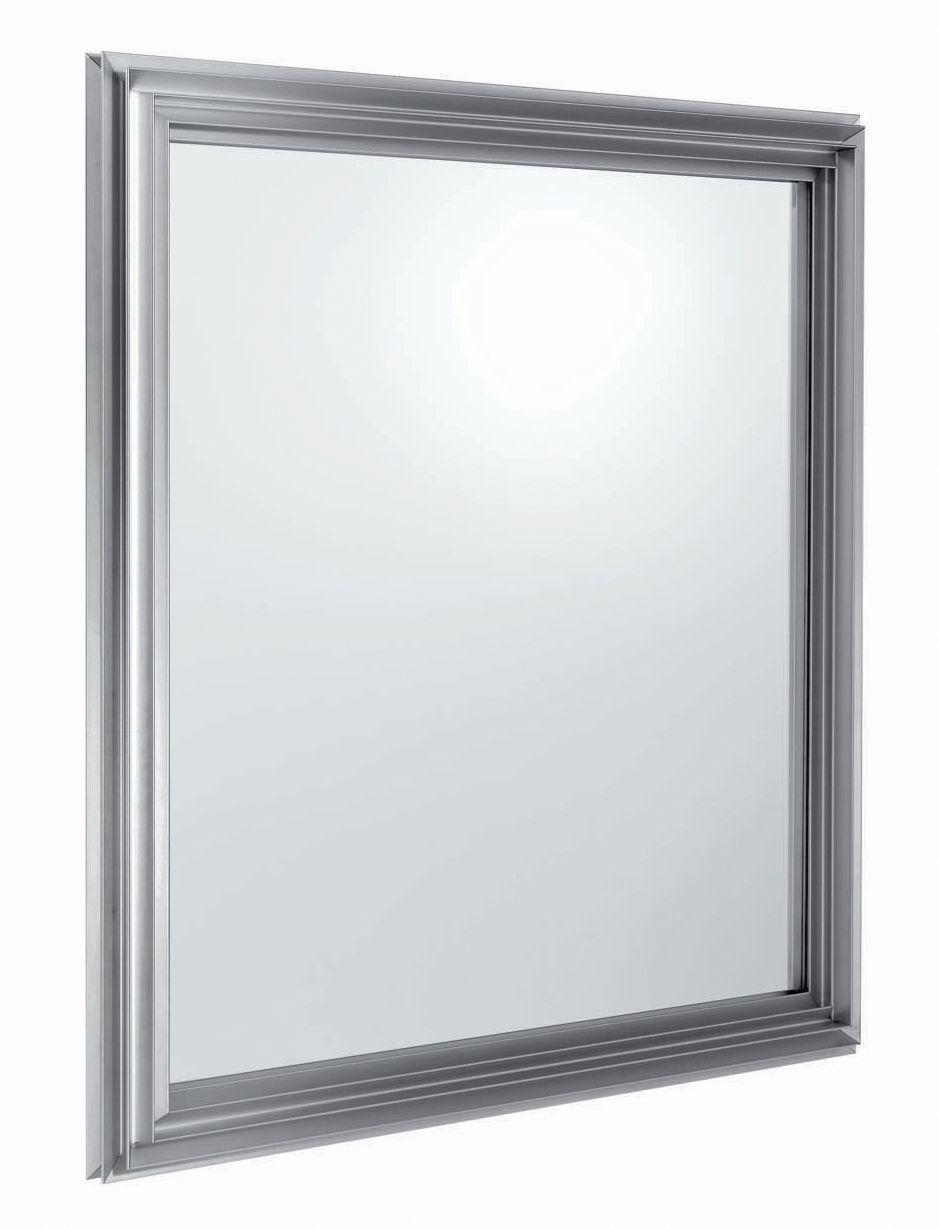 Miroir star system 130 x 130 cm aluminium carr for Miroir 130 x 40