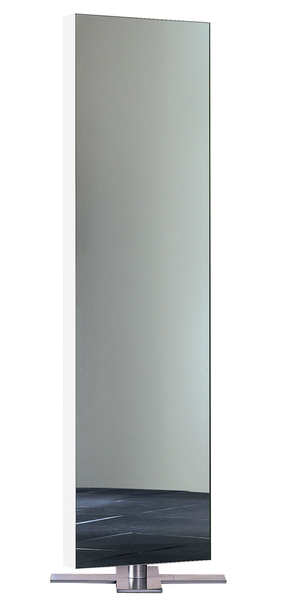 miroir giano poser au sol l 50 x h 180 cm laqu blanc glas italia. Black Bedroom Furniture Sets. Home Design Ideas