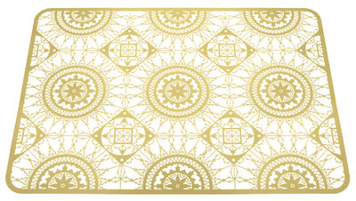 Dessous de plat Italic Lace / 45 x 32 cm - Dessous de plat - Driade Kosmo laiton doré en métal