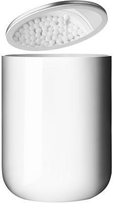 Boîte pour cotons tiges - Menu blanc,inox mat en métal