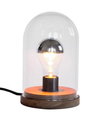 Luminaire - Lampes de table - Lampe de table Précieuse / H 20 cm - Gesa Hansen - Iconic Serie - Designerbox - Chêne / Transparent - Chêne massif, Verre