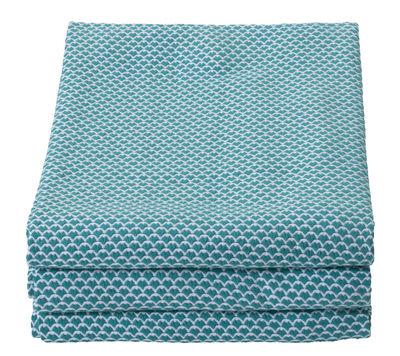 Plaid Pastèques / 130 x 170 cm - Pour l´extérieur - Fermob bleu turquoise en tissu