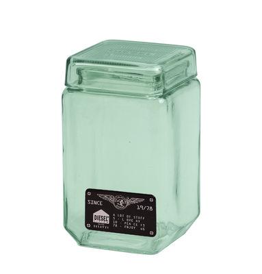 Pot Industrial Glass / Verre - L 11 x H 22,5 cm - Diesel living with Seletti vert transparent en verre