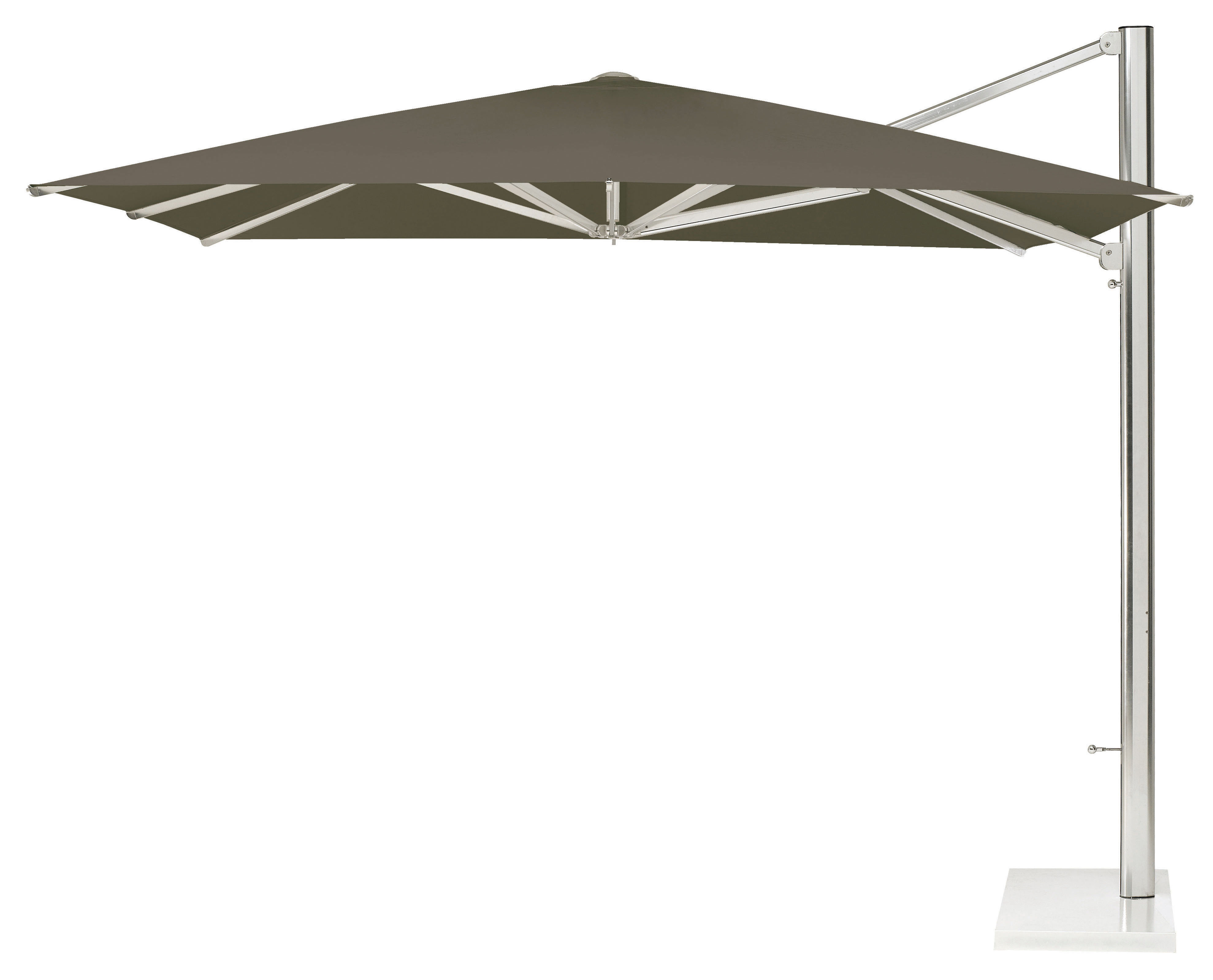 parasol d port shade 320 x 300 cm toile taupe m t alu. Black Bedroom Furniture Sets. Home Design Ideas