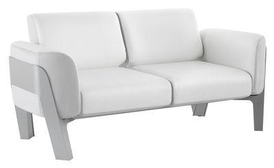 Canapé droit Bienvenue / Vinyle / L 186 cm - 2 places - EGO Paris blanc,gris clair en cuir