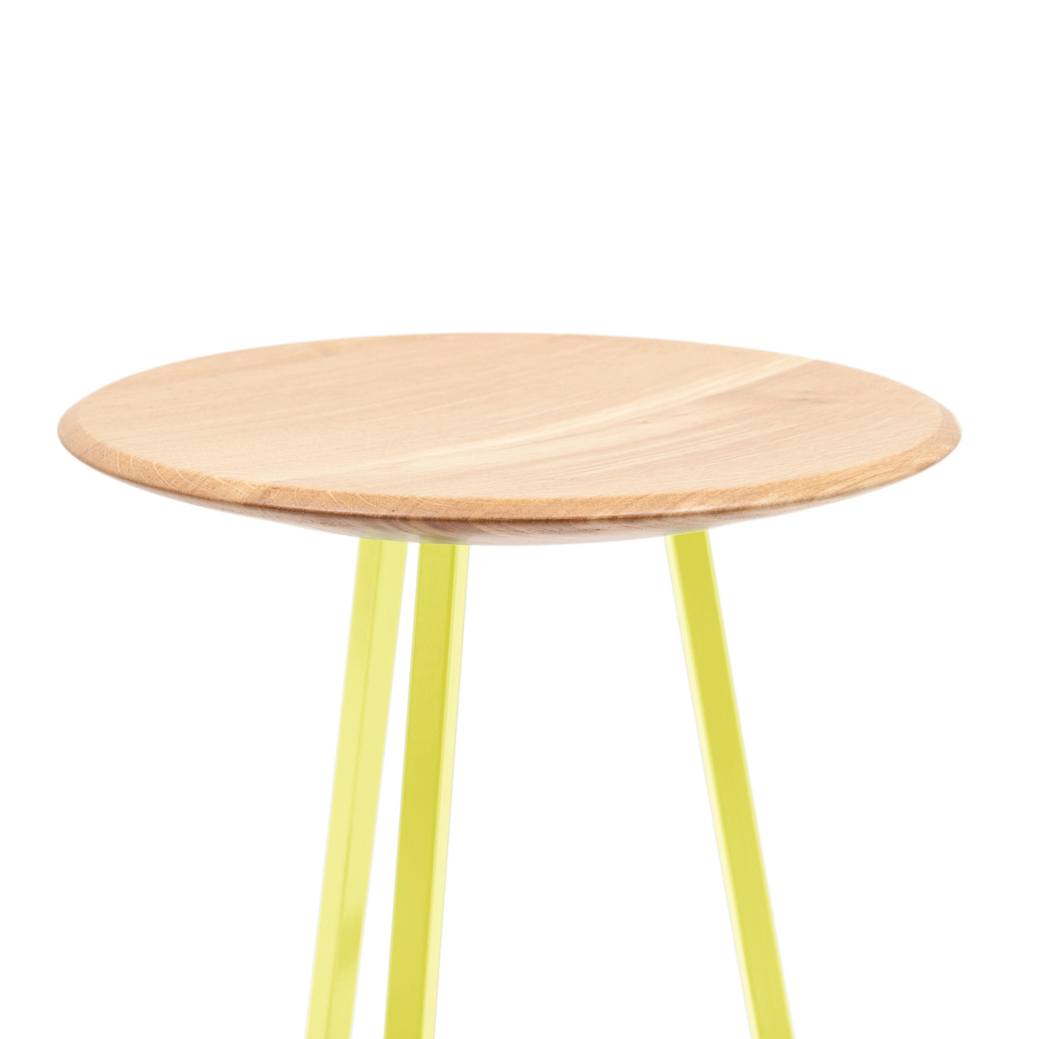 tabouret de bar grand gustave h 77 cm bois m tal jaune citron hart made in design. Black Bedroom Furniture Sets. Home Design Ideas