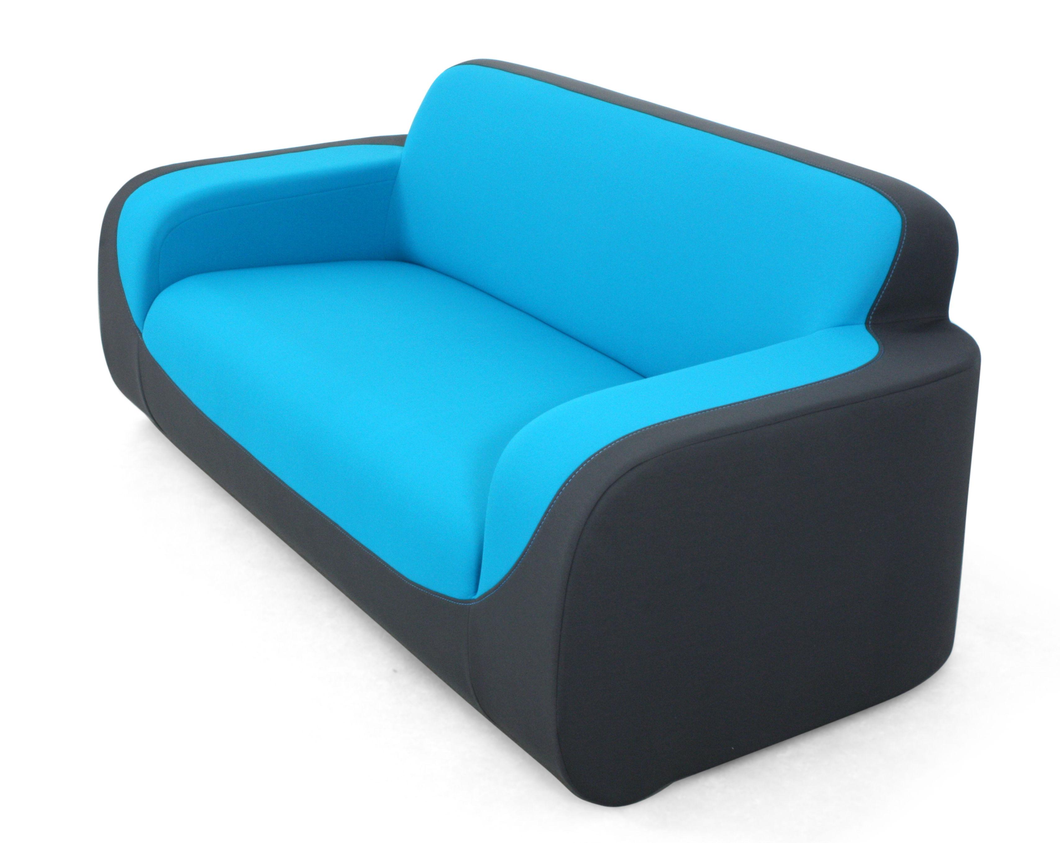 curling by ora ito sofa 2 sitzer l 180 cm grau blau deko naht t rkis by dunlopillo. Black Bedroom Furniture Sets. Home Design Ideas