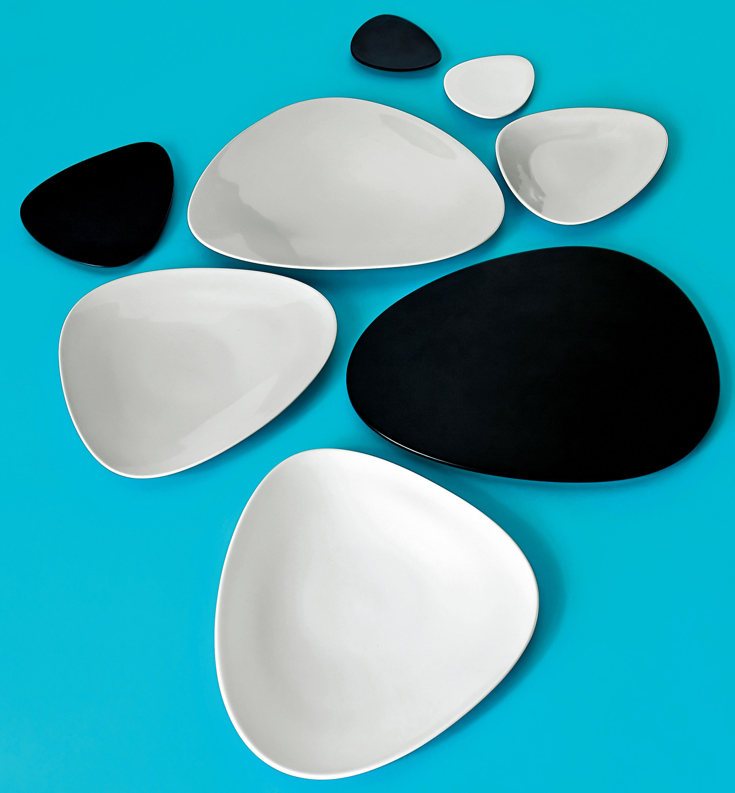 colombina plate white by alessi - zoom