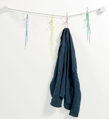 Furniture - Coat Racks & Pegs - Slastic Wall coat rack by Moustache -  - Elastic cable, Lacquered steel