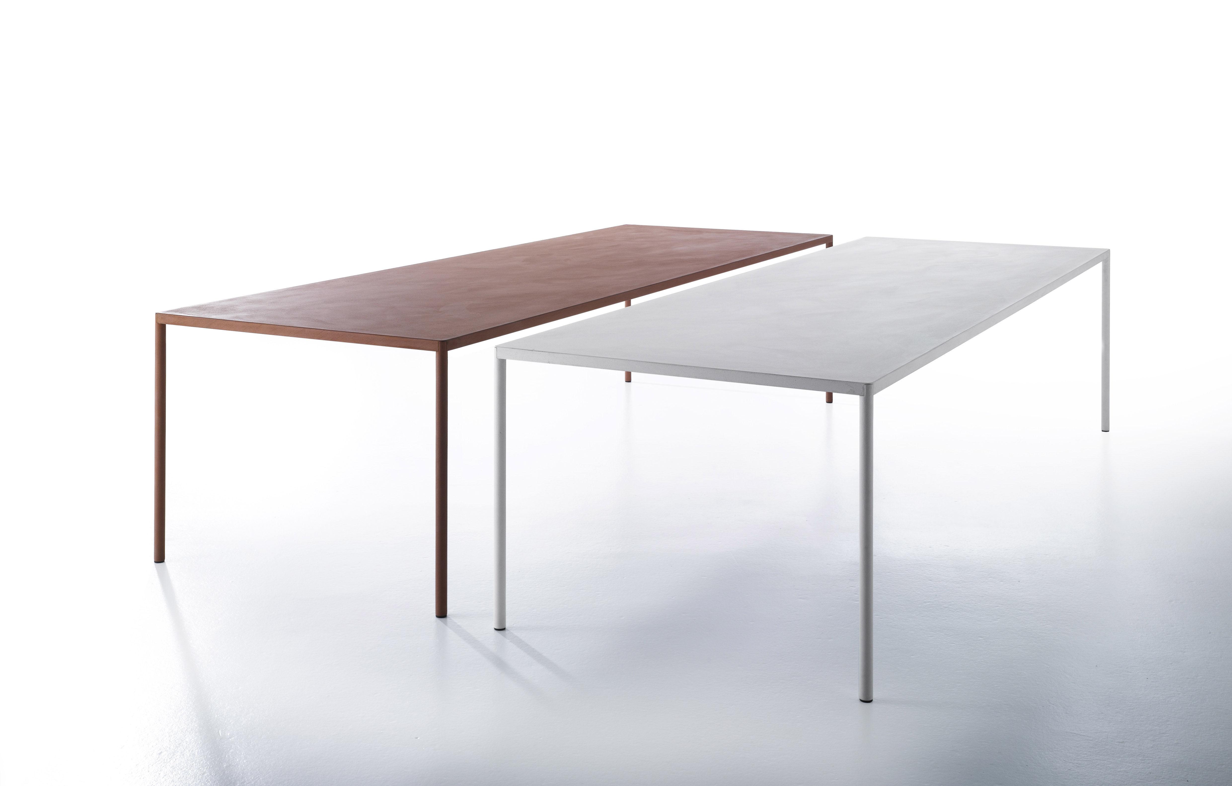 Robin Table Terracotta Cement By Mdf Italia