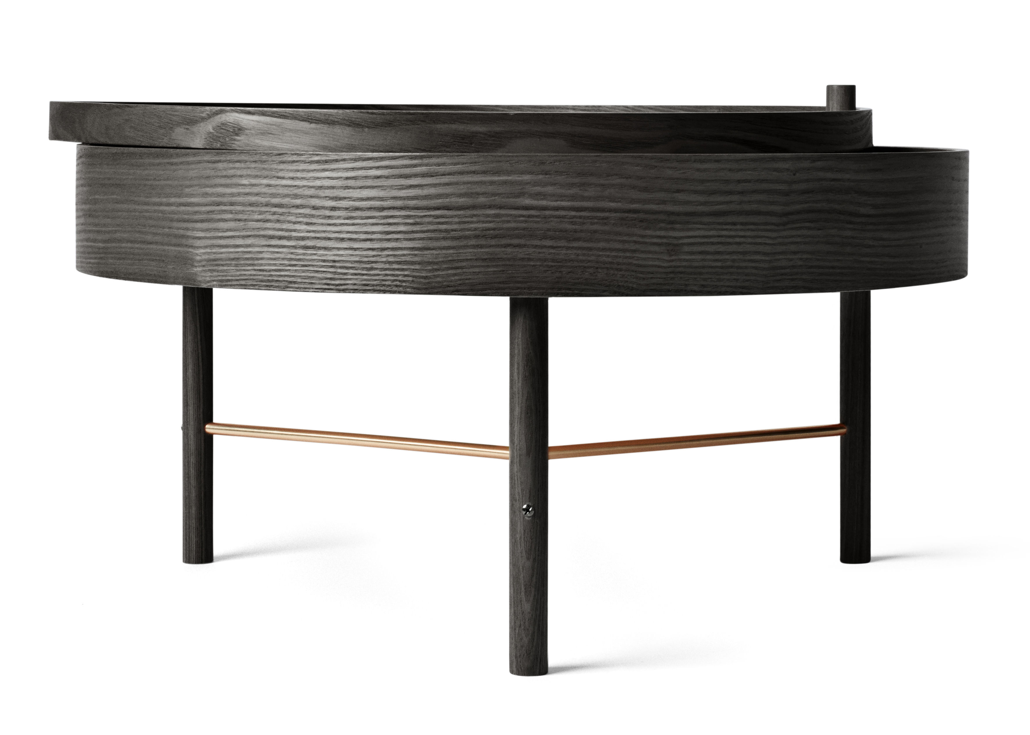 Table basse turning table rangement 65 cm fr ne noir for Solidworks design table zoom