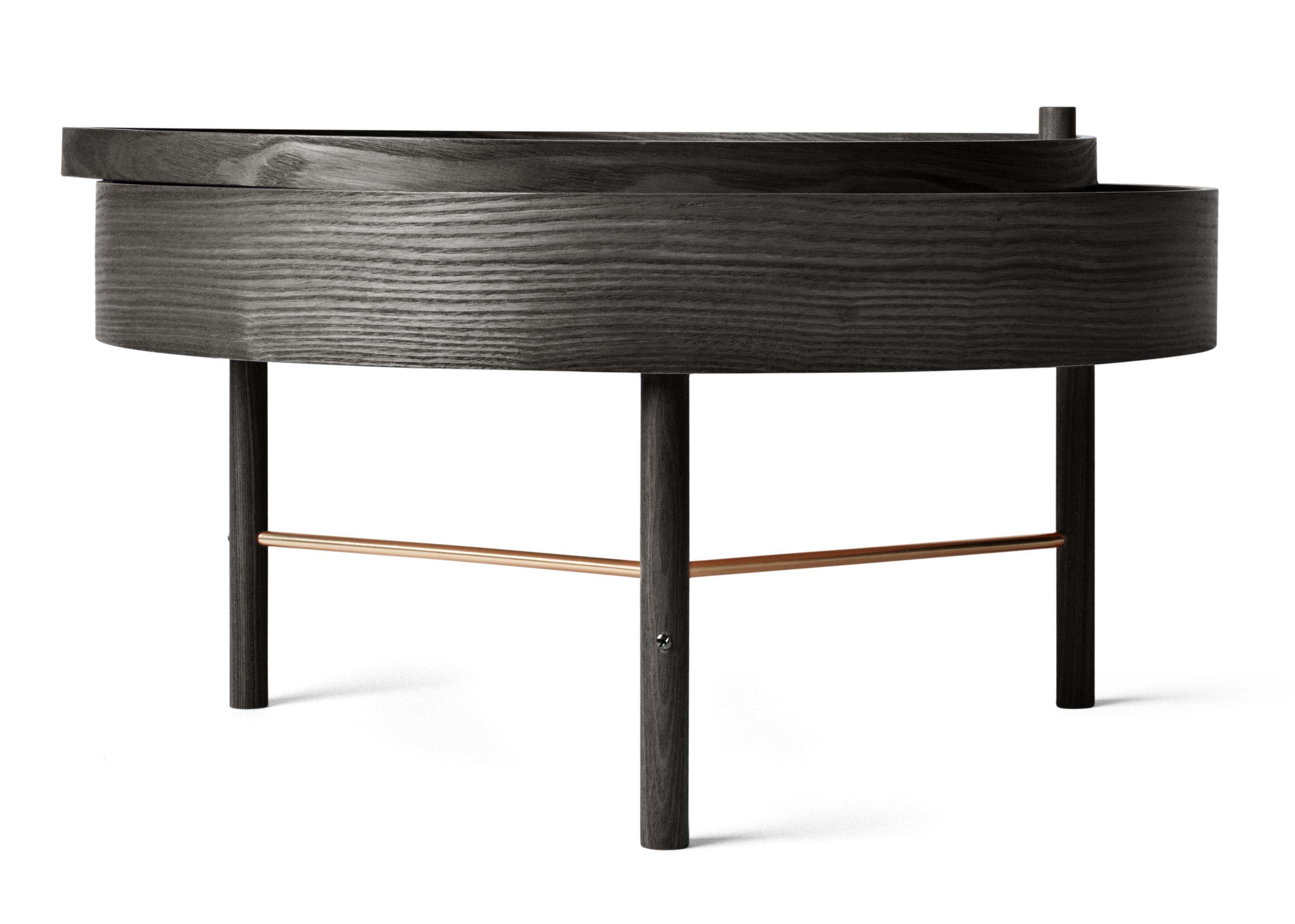 Table basse turning table rangement 65 cm fr ne noir for Solidworks design table zoom