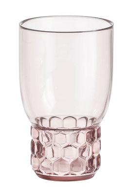 Verre Jellies Family / Medium - H 13 cm - Kartell rose en matière plastique