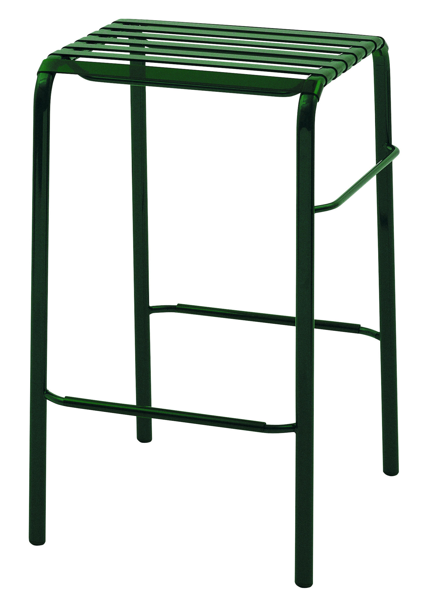 tabouret de bar striped h 68 cm assise plastique vert h 68 cm magis. Black Bedroom Furniture Sets. Home Design Ideas