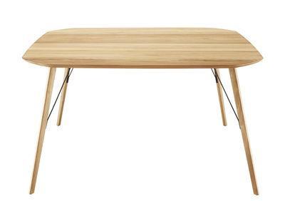 Mobilier - Tables - Table Santiago / 145 x 145 cm - Zanotta - Rouvre naturel - Métal, Rouvre