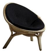 Cuscino - / Per poltrona rana di Sika Design - Nero - Tessuto