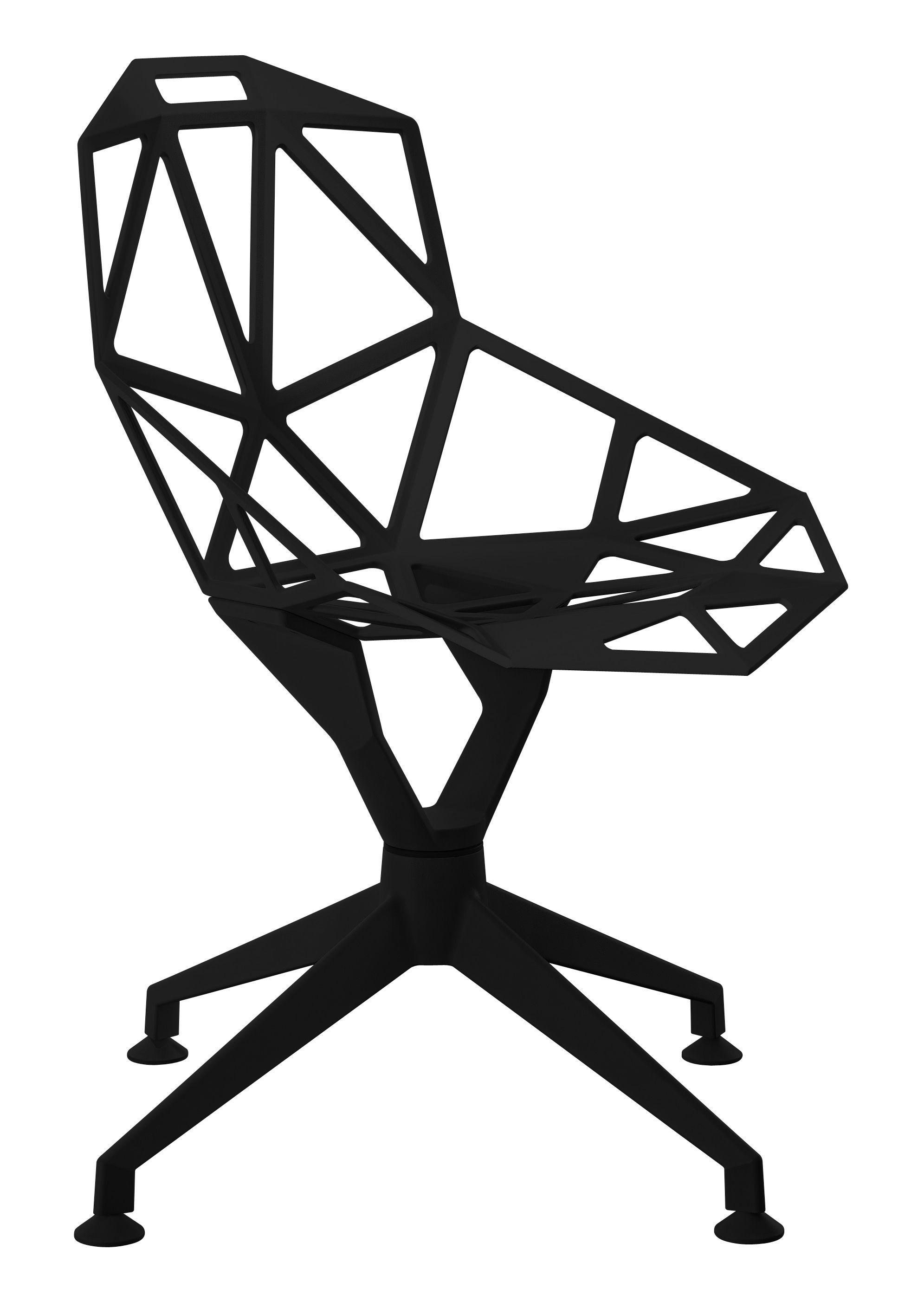 fauteuil pivotant chair one 4star m tal noir magis. Black Bedroom Furniture Sets. Home Design Ideas