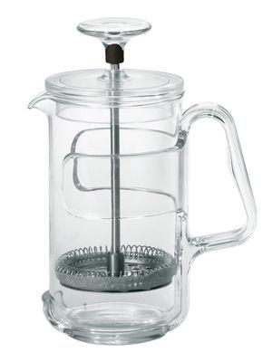 Cafetière à piston In Fusion / Pour café et thé - 8 tasses - Guzzini noir,transparent en métal
