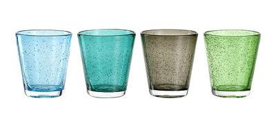 Verre Burano / Set de 4 - Fait main - Leonardo tons froids en verre