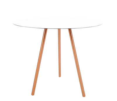Tavolino basso Elle / H 40,5 cm - XL Boom - Bianco,Rame - Metallo