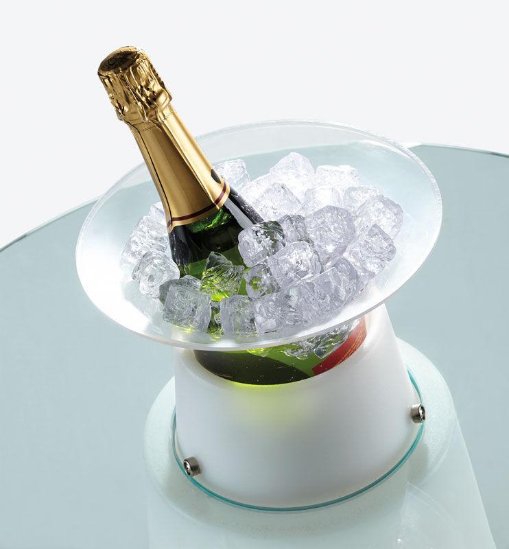 seau glace pour tables peak blanc translucide slide. Black Bedroom Furniture Sets. Home Design Ideas